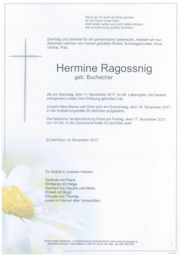 Hermine Ragossnig  geb. Buchacher