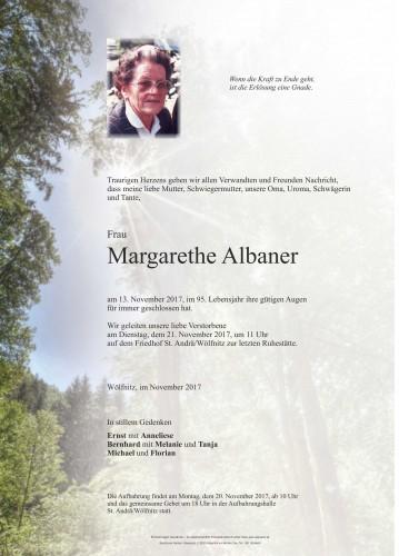 Margarethe Albaner