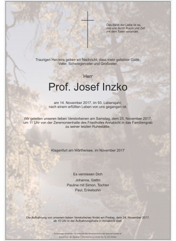 Prof. Josef Inzko