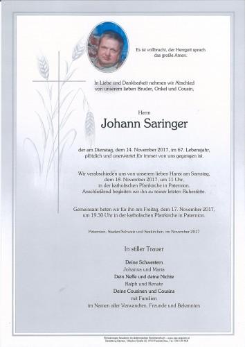 Johann Saringer