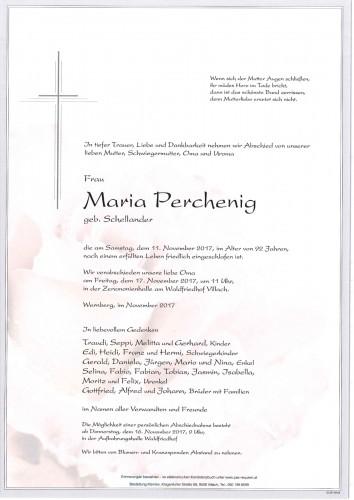 Maria Perchenig geb. Schellander