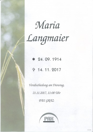 Langmaier Maria