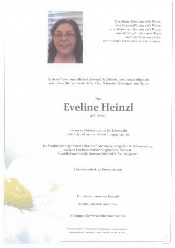 Eveline Heinzl geb. Gesson
