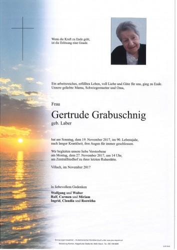 Gertrude Grabuschnig geb. Laber