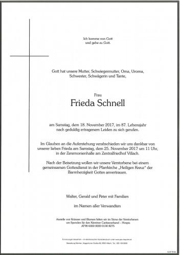 Frieda Schnell geb. Gersch