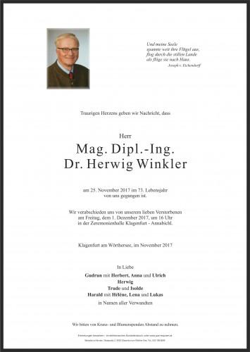 Mag. Dipl.-Ing. Dr. Herwig Winkler