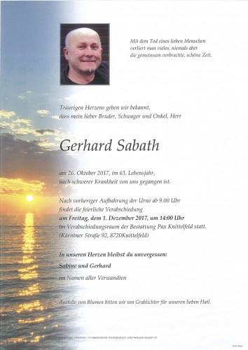 Gerhard Sabath