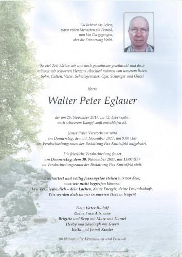 Walter Peter Eglauer