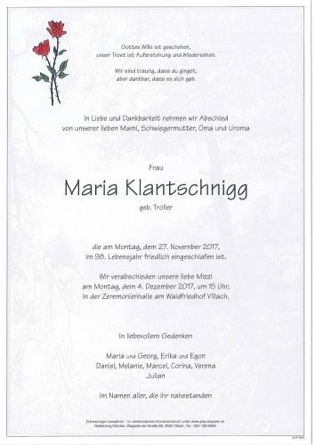 Maria Klantschnigg
