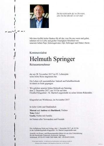 Kommerzialrat Helmuth Springer