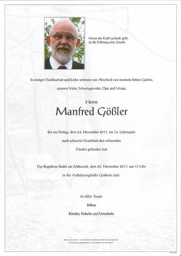 Manfred Gößler