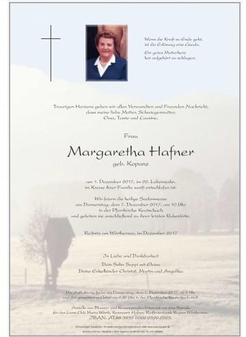 Margaretha Hafner