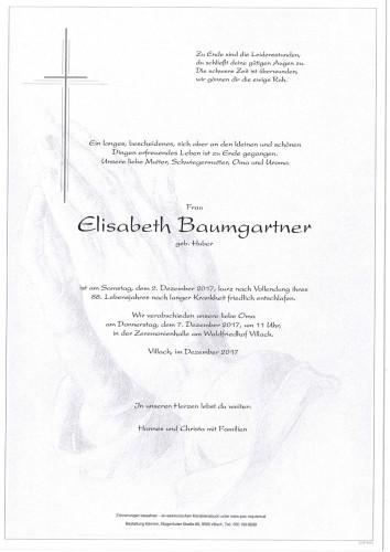Elisabeth Baumgartner geb. Huber