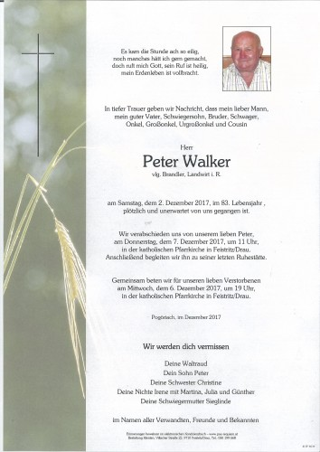 Peter Walker, vlg. Brandler
