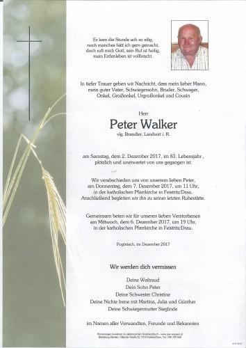 Peter Walker, vlg. Brandler